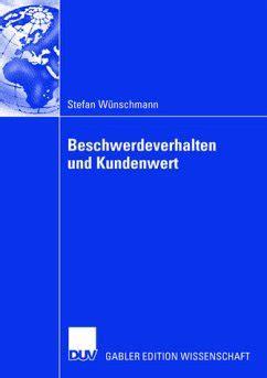 Strange Beschwerdeverhalten Und Kundenwert Wnschmann Stefan Mller Prof Dr Wiring Cloud Oideiuggs Outletorg