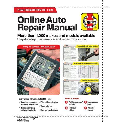 Best Online Auto Repair Manuals (ePUB/PDF)
