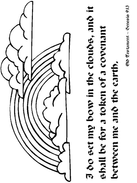 Bible Coloring Pictures About Rainbow (ePUB/PDF)