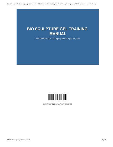 Bio Sculpture Training Manual (ePUB/PDF)