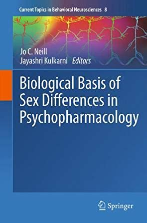 Biological Basis Of Sex Differences In Psychopharmacology Current Topics In Behavioral Neurosciences Book 8