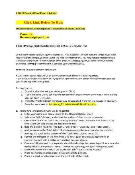 Bis155 Final Exam (ePUB/PDF) Free