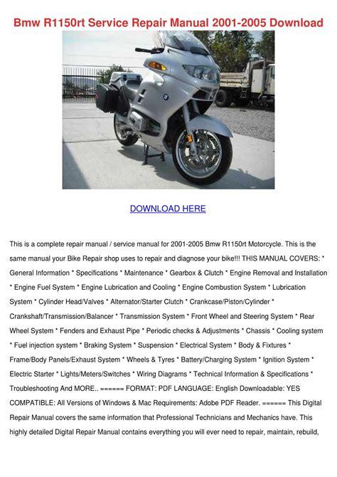 Bmw R1150rt Service Manual (ePUB/PDF) Free