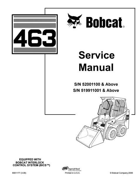 Bobcat 463 Service Manual (ePUB/PDF) Free