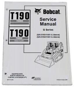 Bobcat T190 Repair Manual Track Loader 531611001 Improved ePUB/PDF