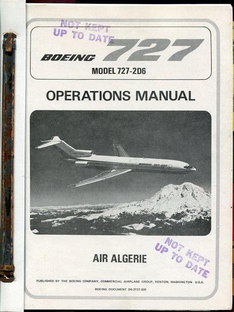 Boeing 727 Maintenance Manual (ePUB/PDF)