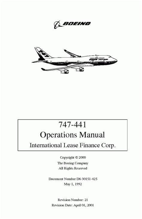 Boeing 747 441 Operations Manual (ePUB/PDF) Free