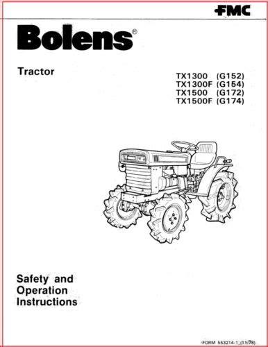 Bolens Tractor Manual (ePUB/PDF)