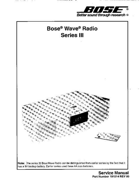 Bose Wave Radio Manual (ePUB/PDF) Free