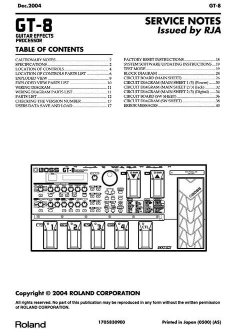 Boss Gt 8 Manual (ePUB/PDF)