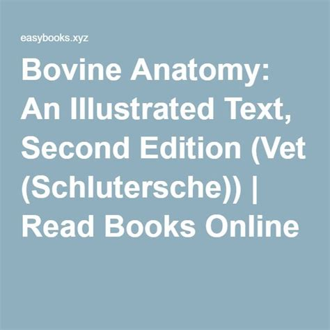 Bovine Anatomy An Illustrated Text Second Edition Vet Schlutersche