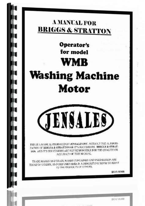 Briggs And Stratton Wmb Manual (ePUB/PDF)