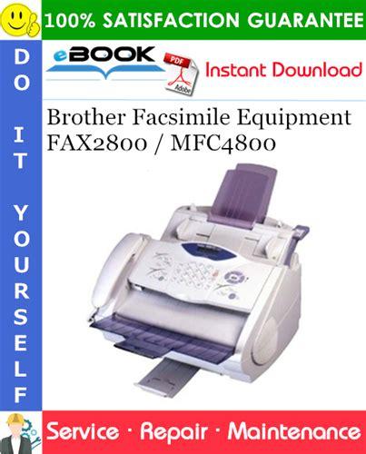 Brother Facsimile Equipment Fax2800 Mfc4800 Service Repair Manual ...
