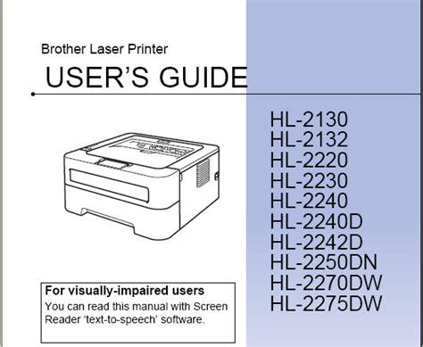 Brother Printer Hl2270dw User Manual (ePUB/PDF)