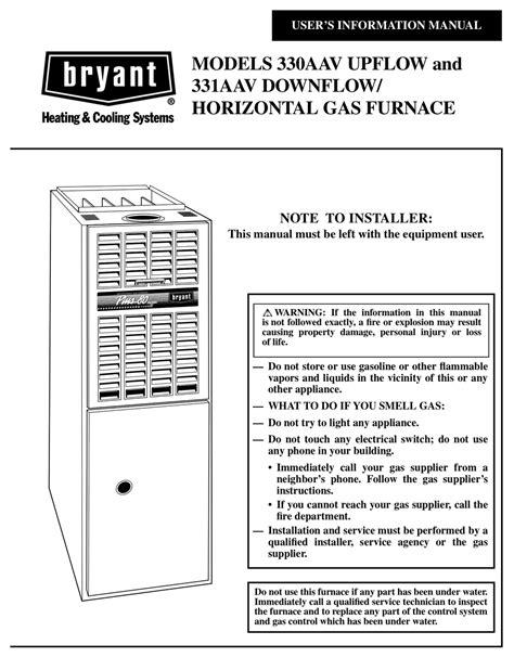 Bryant Furnace Service Manual (ePUB/PDF)