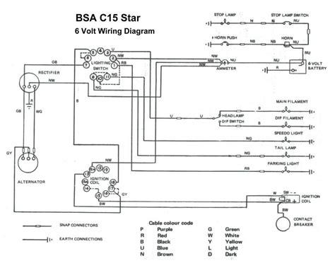 bsa c15 wiring diagram