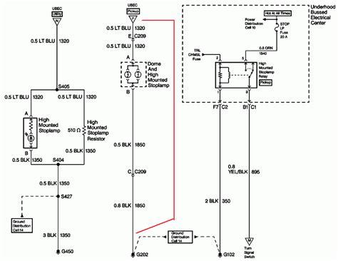 c5500 brake light pigtail wiring diagram trailer towing