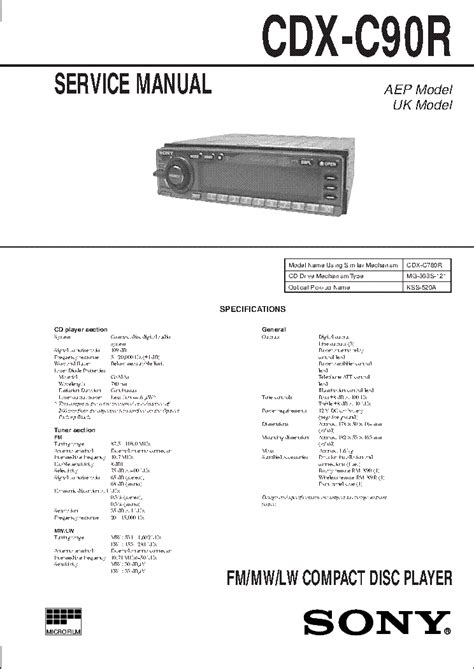 sony cdx gt wiring diagram images need wiring diagram for auto cdx gt520 service manual complete service manuals