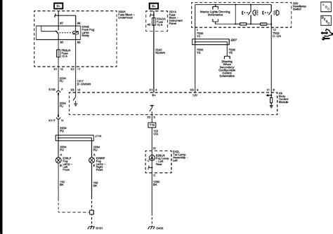 cadillac fog lights wiring diagram