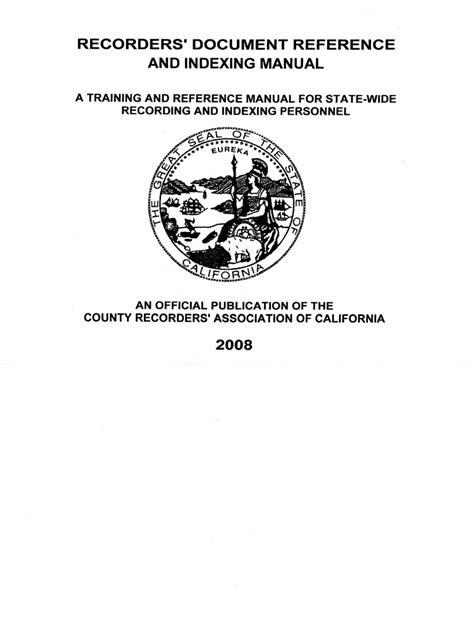California Recorders Manual (ePUB/PDF) Free