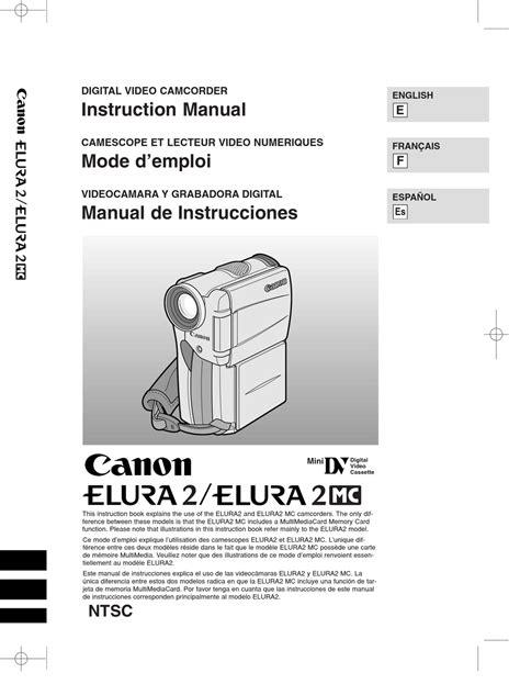 Canon Elura 2 Manual (ePUB/PDF) on