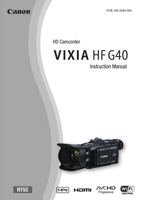 Canon Vixia Manual Pdf (ePUB/PDF)
