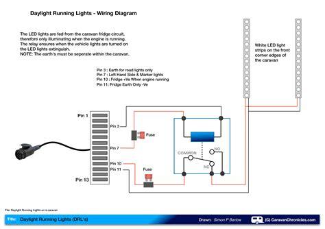 caravan road lights wiring diagram