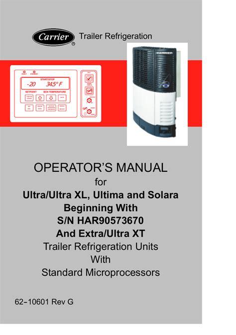 Carrier Transicold Reefer Manual (ePUB/PDF)