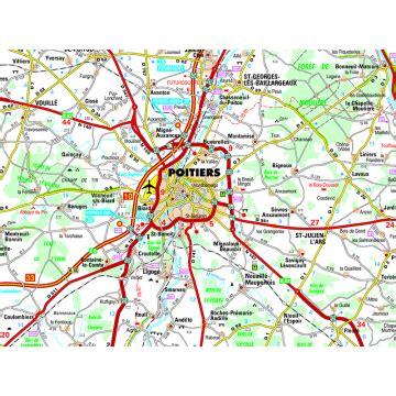 carte poitiers et alentours Carte Routiere Alentours Poitiers