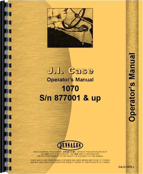 Case 1070 Tractor Manual (ePUB/PDF)