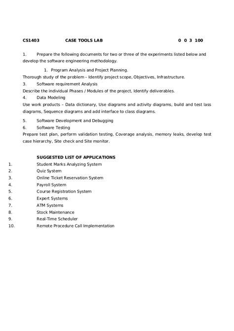 Case Tools Lab Manual (ePUB/PDF)