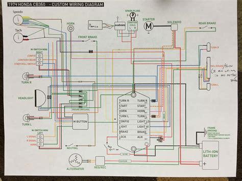 cb360 wiring harness diagram