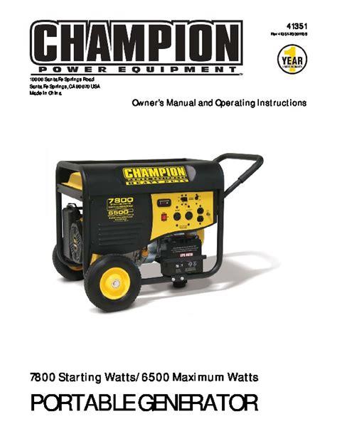 Champion Generator Manual (ePUB/PDF)