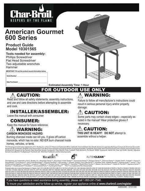 Char Broil Classic Grill Manual (ePUB/PDF)