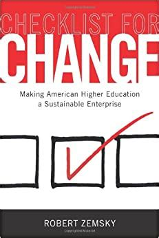 Checklist For Change Zemsky Robert