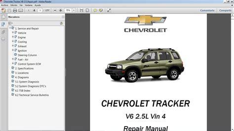 Chevy Tracker Repair Manual Ebook (ePUB/PDF)