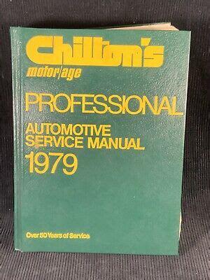 Chilton Professional Service Manuals (ePUB/PDF)
