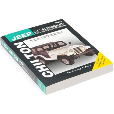 jeep cj wiring diagram images jeep wagoneer wiring diagram chilton 40202 chi repair manual for 71 86 jeep cj5 cj6