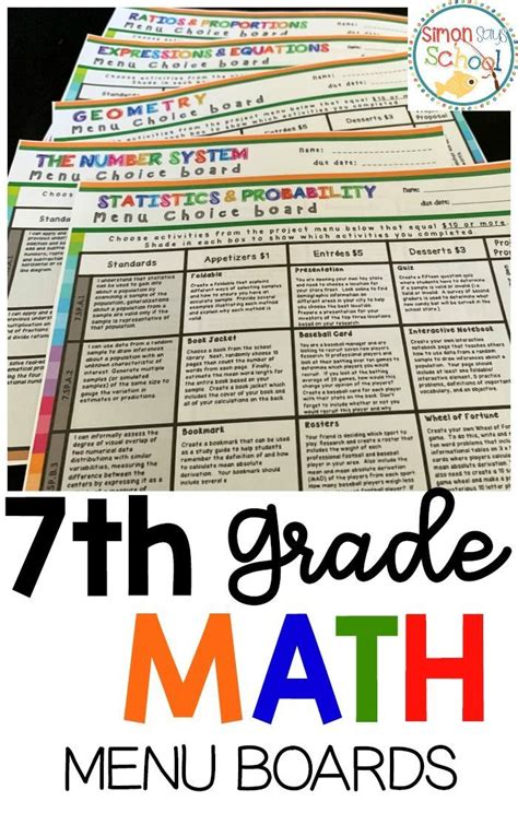 Choice Board For 7th Grade (ePUB/PDF) Free