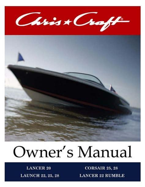Chris Craft Owners Manuals (ePUB/PDF)