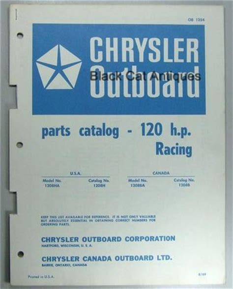 Chrysler Outboard 120 Hp 1969 Later Factory Service Repair Manual