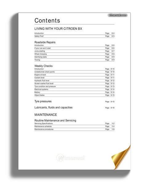 Citroen Bx Repaire Manual ePUB/PDF