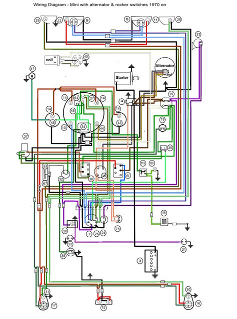 classic mini cooper wiring diagram