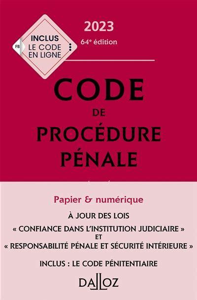 Code De Procedure Penale Version (ePUB/PDF)