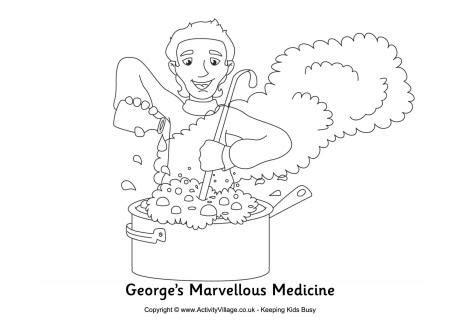 Colouring Pages Georges Marvellous Medicine (ePUB/PDF) Free