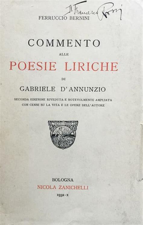 Commento Alle Poesie Liriche Di Gabriele Dannunzio By