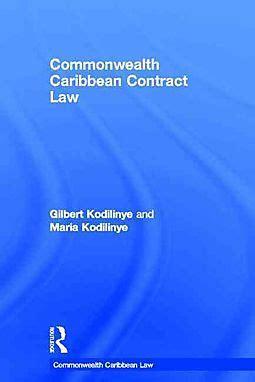 Commonwealth Caribbean Contract Law Kodilinye Gilbert Kodilinye ...