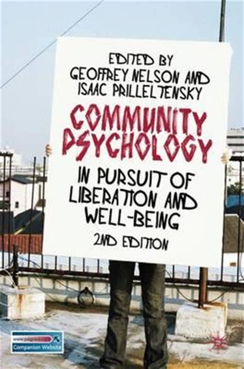 Community Psychology In Pursuit Of Liberation And Well Being