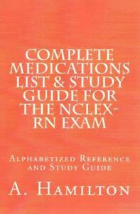 Complete Medications List Study Guide For The Nclex Rn Exam Reference Guide To 300 Medications