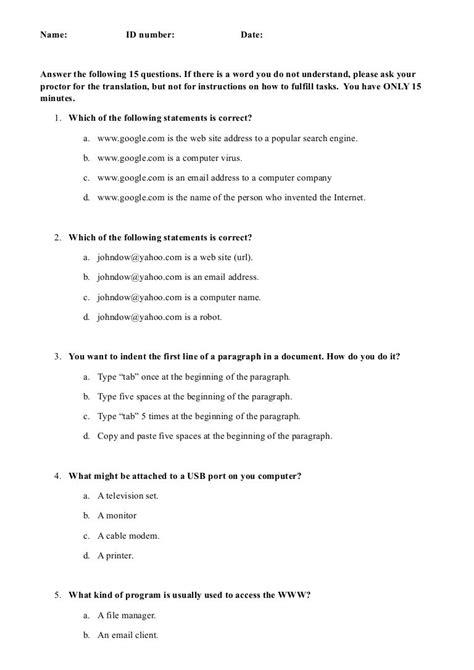 Computer Literacy Test Sample Tsi (ePUB/PDF) Free